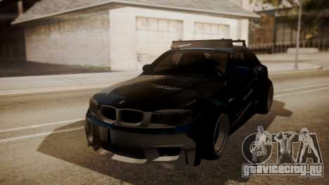 BMW 1M E82 with Sunroof для GTA San Andreas вид сверху
