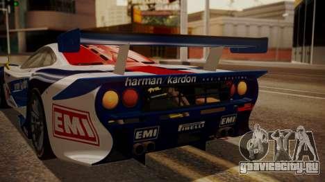 McLaren F1 GTR 1998 HarmanKardon для GTA San Andreas вид сбоку