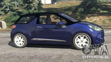 Citroen DS3 2011 для GTA 5 вид слева