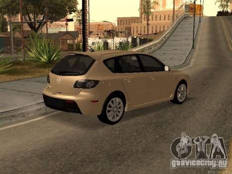 Mazda 3 MPS Tunable для GTA San Andreas вид слева