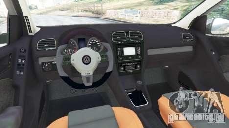 Volkswagen Golf Mk6 v2.0 для GTA 5 вид справа