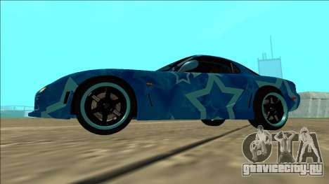 Mazda RX-7 Drift Blue Star для GTA San Andreas вид сзади