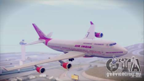 Boeing 747-437 Air India Tanjore Old Skin для GTA San Andreas вид сзади слева