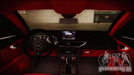 Audi RS7 Sportback 2015 для GTA San Andreas салон