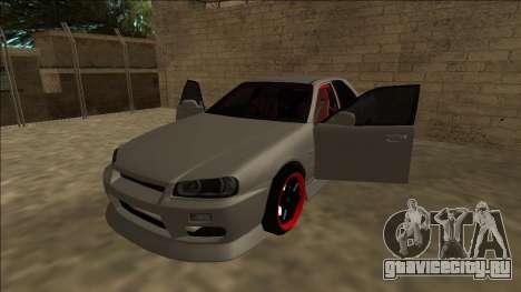 Nissan Skyline ER34 Drift для GTA San Andreas вид сзади