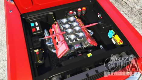 Shelby Mustang GT500 1967 [LowRiders] для GTA 5 вид сзади справа