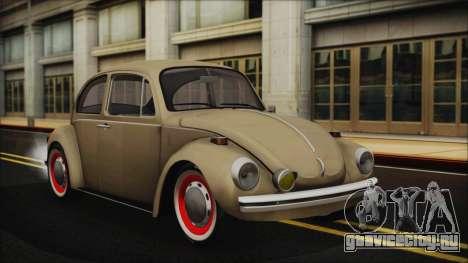 Volkswagen Beetle 1973 для GTA San Andreas вид изнутри