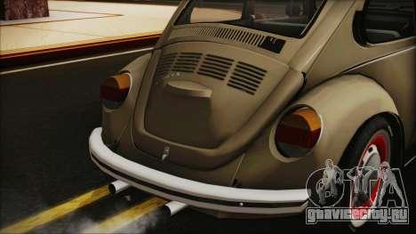Volkswagen Beetle 1973 для GTA San Andreas вид сзади