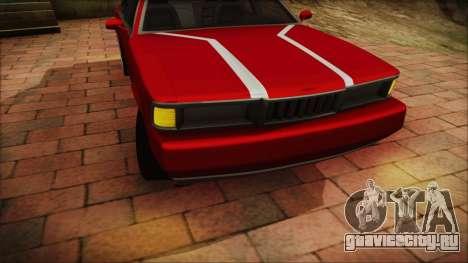 Sentinel PFR HD v1.0 для GTA San Andreas вид сзади слева