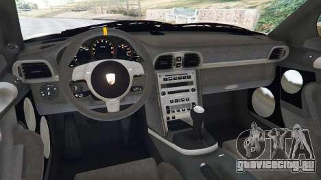 Porsche 911 (997) GT3 RS 2007 для GTA 5 вид сзади справа