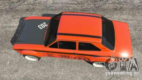 Ford Escort MK1 v1.1 [HRE] для GTA 5 вид сзади