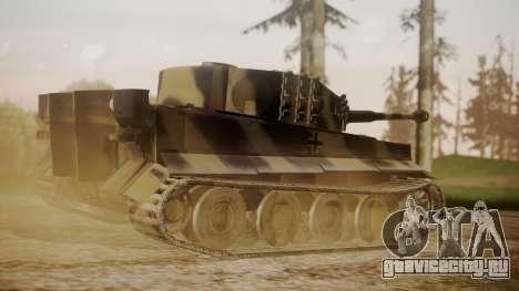 Panzerkampfwagen VI Tiger Ausf. H1 No Interior для GTA San Andreas вид слева