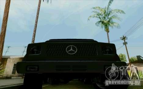 Mercedes-Benz G500 1999 для GTA San Andreas вид изнутри