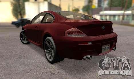 BMW M6 E63 для GTA San Andreas вид слева
