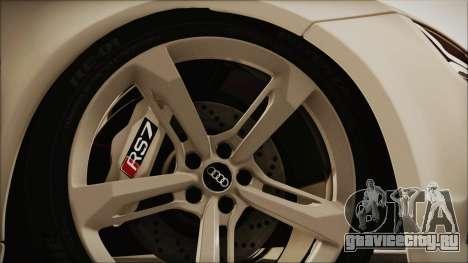 Audi RS7 Sportback 2015 для GTA San Andreas вид сзади