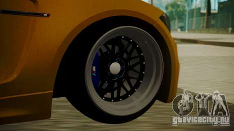BMW 1M E82 without Sunroof для GTA San Andreas вид сзади слева