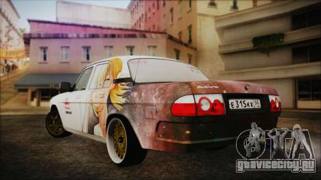 ГАЗ 31105 Drift (Everlasting Summer Edition) для GTA San Andreas вид слева