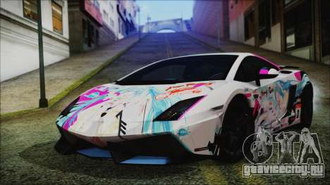 Lamborghini Gallardo LP570-4 2015 Miku Racing для GTA San Andreas