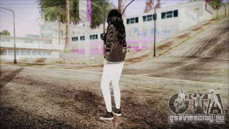 Home Girl White Pants для GTA San Andreas третий скриншот