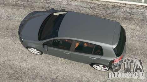 Volkswagen Golf Mk6 v2.0 для GTA 5 вид сзади