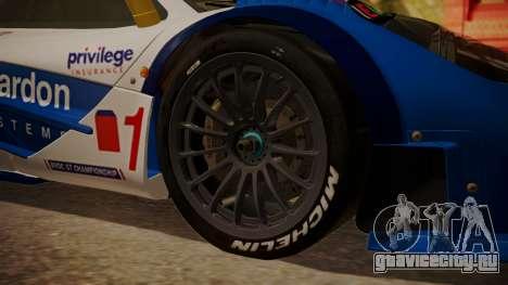 McLaren F1 GTR 1998 HarmanKardon для GTA San Andreas вид сзади слева