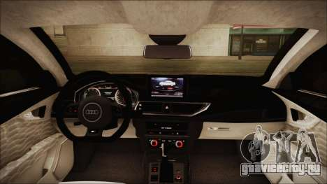 Audi RS7 Sportback 2015 для GTA San Andreas вид снизу