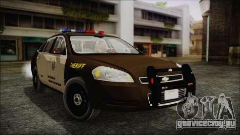 Chevrolet Impala SASD Sheriff Department для GTA San Andreas