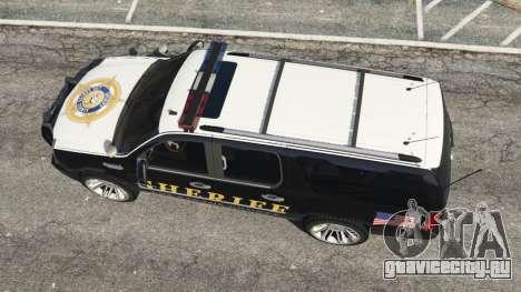 Cadillac Escalade ESV 2012 Police для GTA 5 вид сзади