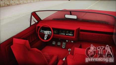 GTA 5 Albany Buccaneer Custom IVF для GTA San Andreas вид справа
