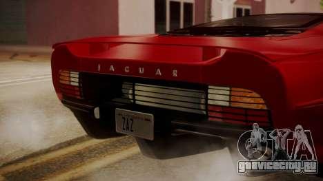 Jaguar XJ220 1992 HQLM для GTA San Andreas вид сзади