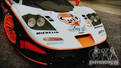 McLaren F1 GTR 1998 для GTA San Andreas вид справа