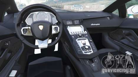 Lamborghini Aventador LP700-4 Dubai Police v5.5 для GTA 5 вид сзади справа