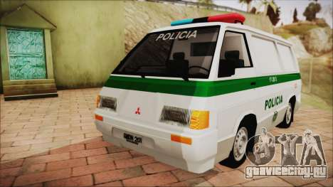 Mitsubishi L300 2008 Patrulla Policía Colombiana для GTA San Andreas