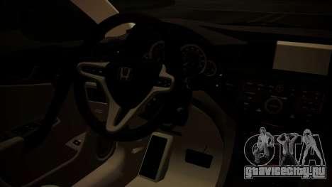 Honda Accord 2010 для GTA San Andreas вид справа