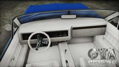 GTA 5 Albany Buccaneer Hydra Version для GTA San Andreas вид справа