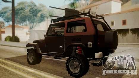 New Mesa Wild для GTA San Andreas вид слева