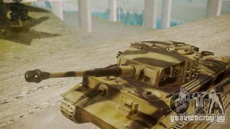 Panzerkampfwagen VI Tiger Ausf. H1 для GTA San Andreas вид справа