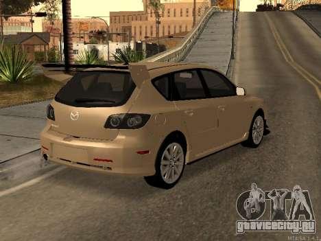 Mazda 3 MPS Tunable для GTA San Andreas вид изнутри