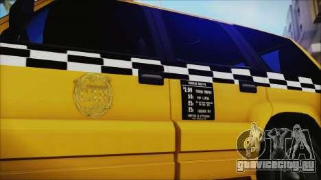 Albany Cavalcade Taxi (Saints Row 4 Style) для GTA San Andreas вид сзади слева