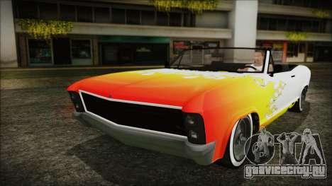 GTA 5 Albany Buccaneer Hydra Version для GTA San Andreas вид сверху
