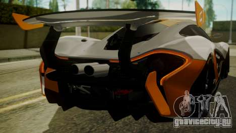 McLaren P1 GTR 2015 для GTA San Andreas вид сбоку