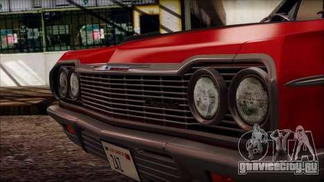 Chevrolet Impala SS 1964 Final для GTA San Andreas вид справа