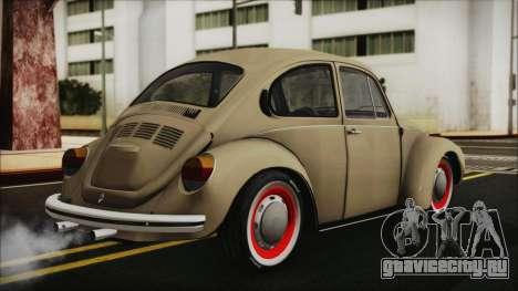 Volkswagen Beetle 1973 для GTA San Andreas вид слева