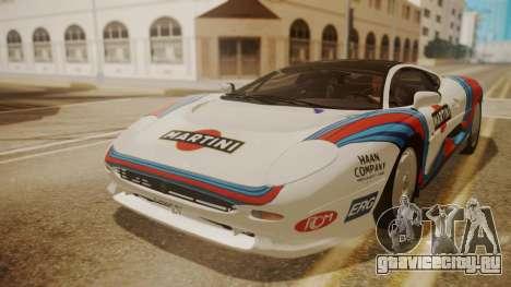 Jaguar XJ220 1992 HQLM для GTA San Andreas вид сбоку