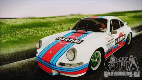 Porsche 911 Carrera RS 2.7 (901) 1973 для GTA San Andreas вид сзади