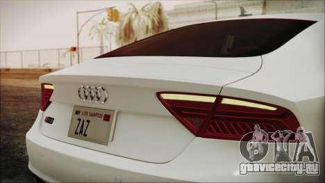 Audi RS7 Sportback 2015 для GTA San Andreas вид изнутри