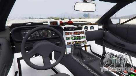 DeLorean DMC-12 Back To The Future для GTA 5 вид сзади справа