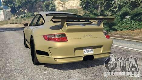 Porsche 911 (997) GT3 RS 2007 для GTA 5 вид сзади слева