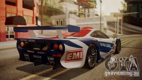 McLaren F1 GTR 1998 HarmanKardon для GTA San Andreas вид слева