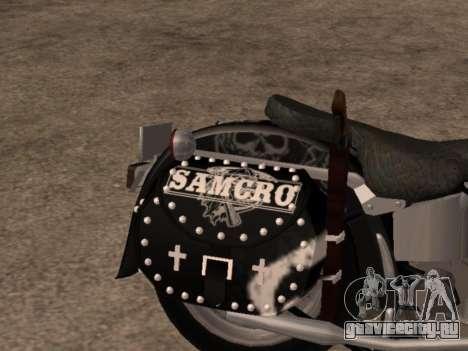 Harley Davidson Fat Boy Sons Of Anarchy для GTA San Andreas вид справа
